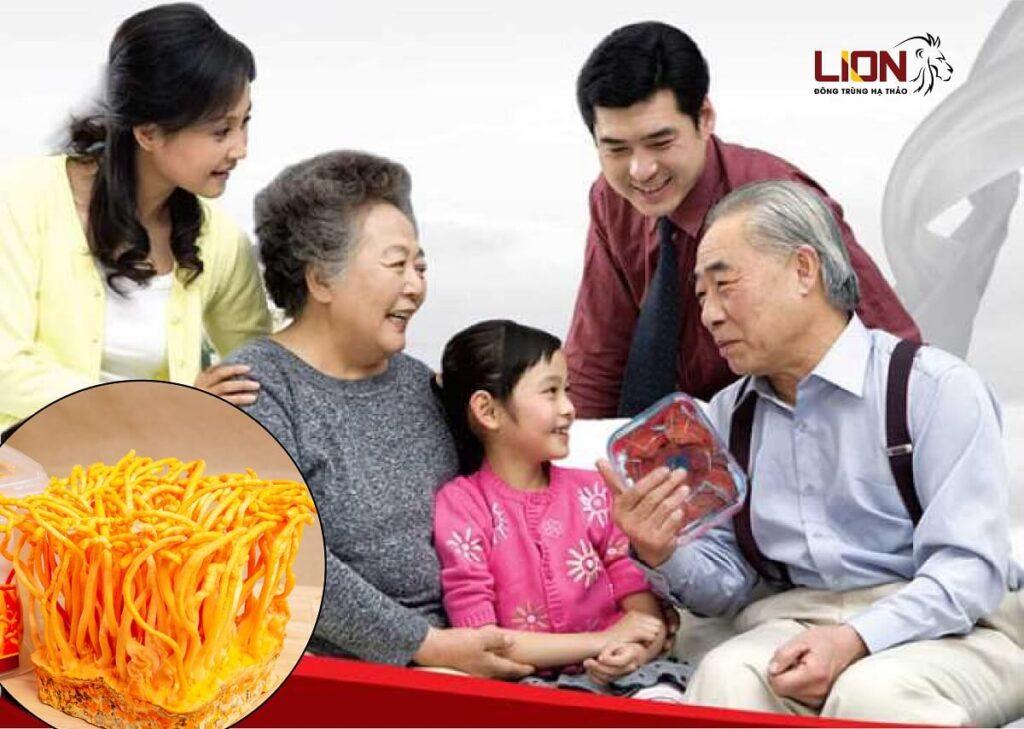 tác dụng đông trùng hạ thảo với người lớn tuổi